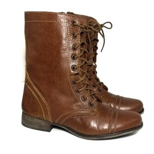 Steve Madden Troopa Combat Ankle Lace-up Boots